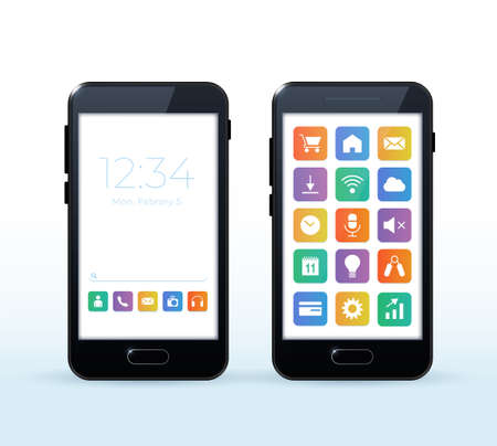 Realistic High Quality Smartphone for your Designs. Isolated Vector Elements