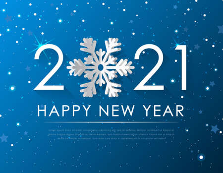 Realistic High Quality Happy New Year on Gradient Background . Isolated Vector Elements