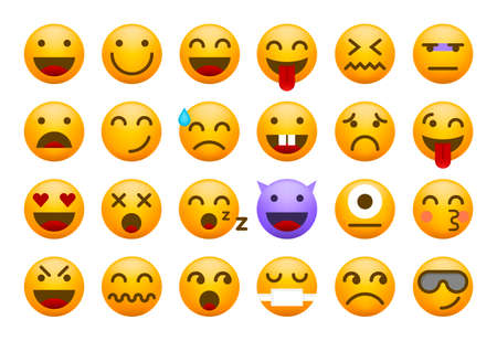 Cute High Quality Emoticon on White Background for your Design . Isolated Vector Illustration Vector Illustratie