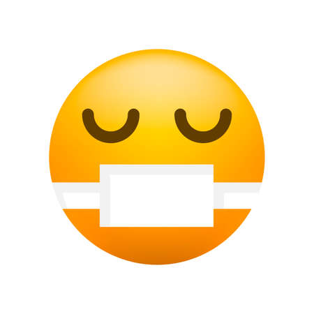 Cute High Quality Emoticon on White Background for your Design . Isolated Vector Illustration