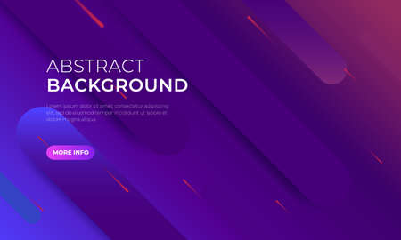 Realistic Abstract 3D Poster with Fluid Shapes on Colorful Background. Isolated Vector Elements