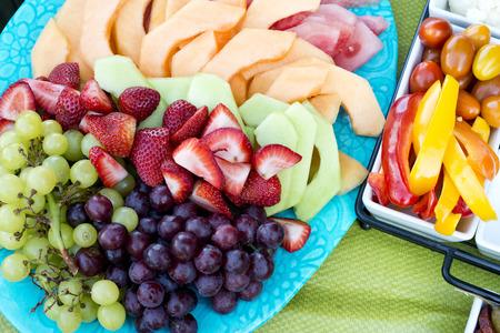 party tray: fruit party tray Stock Photo
