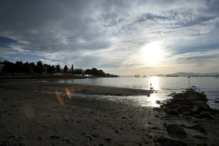 pier at sunset kits beach vancouver