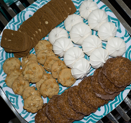 party tray: cookie party tray Stock Photo