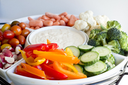 fruit and veggie party tray
