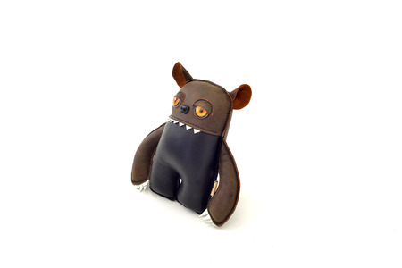 ogre: a cute custom handcrafted stuffed leather toy ogre