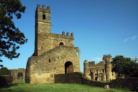 enclosure: Library and Fasiladas Palace in the Royal Enclosure at Gondor in Ethiopia