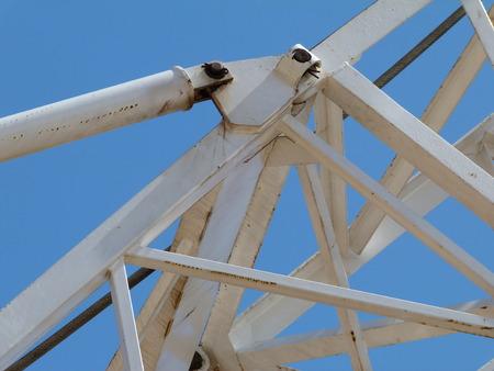 jib: crane jib construction Stock Photo