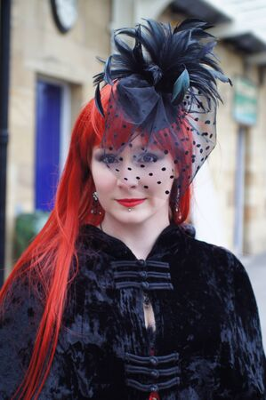 whitby: People at Whitby Goth Weekend Editorial