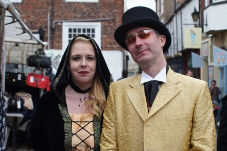 whitby: Whitby Goth Weekend. couple Editorial