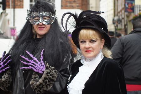 goth: Whitby Goth Weekend. Couple