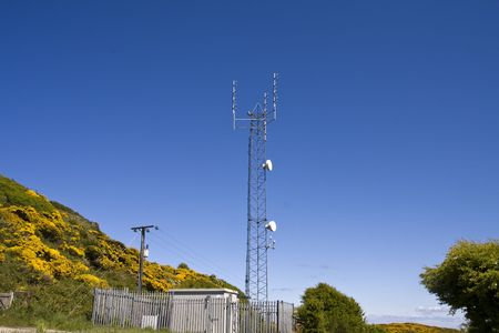 eyesore: Telecommunication mast for mobile phone networks in an area of natural beauty