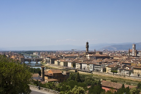 A cityscape of Florence in Tuscany Italy Stock Photo