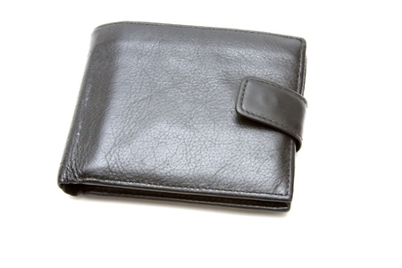 Used man`s leather wallet