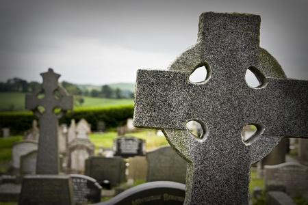 headstones: Headstones in a graveyard