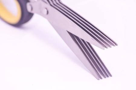 Close up of scissor blades