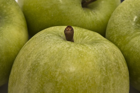 Close up of a bunch of green apples. Stock Photo