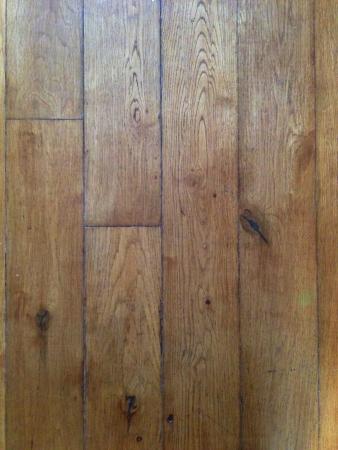 Rustic worn wooden floorboards