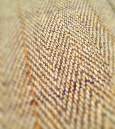 Close up of traditional British tweed fabric