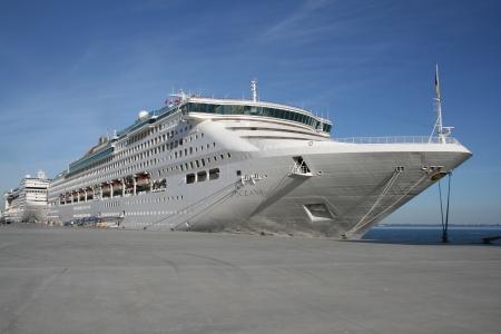 oceana: P O Oceana cruise ship in Lisbon, Portugal Editorial