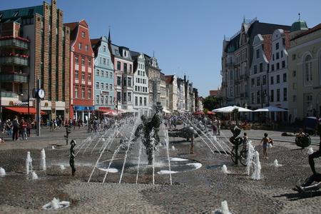 rostock: The Joy of Life fountain, Rostock, Germany