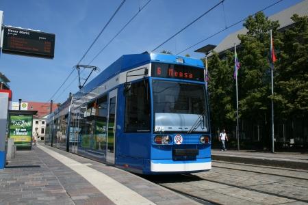 rostock:  Tram, public transport system, Rostock, Germany