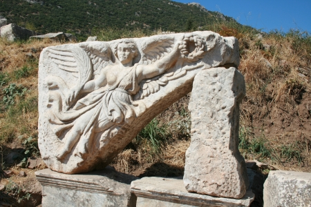 Architectural element coming from the Door of Heracles , Ephasus, Turkey