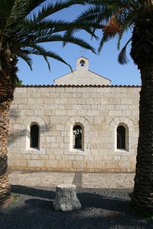 multiplicaci�n: Iglesia de la multiplicaci�n, Tabgha, Israel Foto de archivo