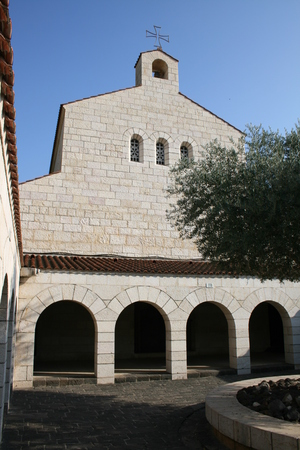 multiplication: Church of the Multiplication, Tabgha, Israel  Stock Photo