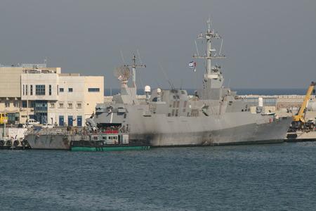 ar: Sa ar 5-class corvette of Israeli Navy, Haifa, Israel  Editorial