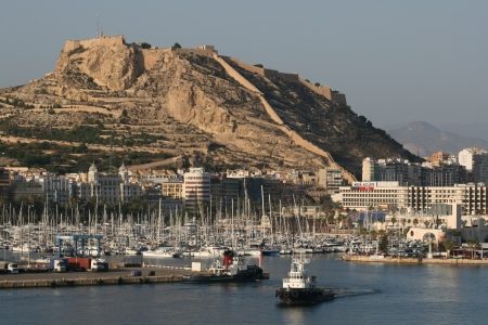 barbara: Santa Barbara Castle and marina, Alicante, Spain