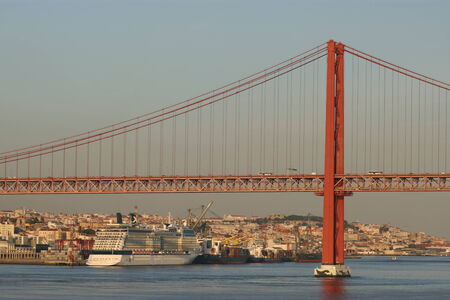 25th of April Bridge, Lisbon, Portugal photo