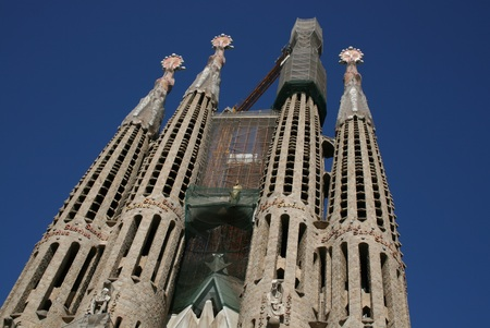 uncompleted: Sagrada Familia, Gaudi uncompleted cathedral in Barcelona, Spain Editorial
