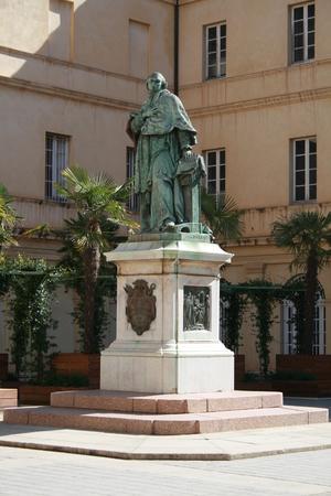 Statue of Cardinal Fesch by Vital Dubray, Ajaccio, Corsica, France Stock Photo