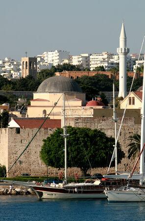 rhodes: Suleiman Mosque and minaret, Rhodes Town, Rhodes, Greece