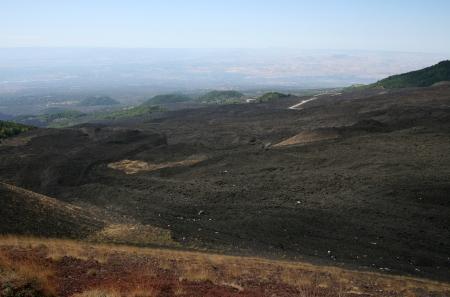 deposits: Lava deposits on the higher slopes of Mount Etna, Sicily, Italy