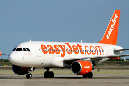 G-EZGA,Easyjet Airbus 319 taxis to stand, Barcelona, Spain