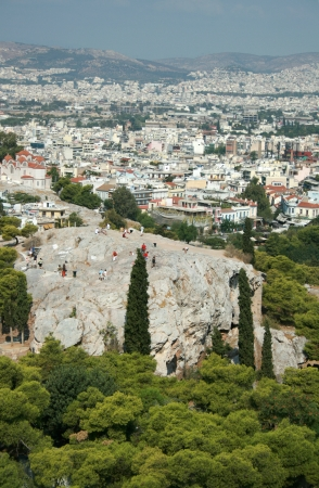 The Areopagus or Mars Hill, from Acropolis of Athens, Athens, Greece