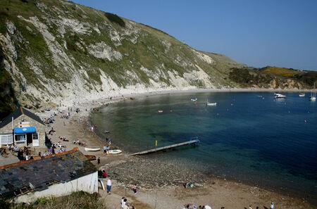dorset: Lulworth Cove, Dorset, England Editorial