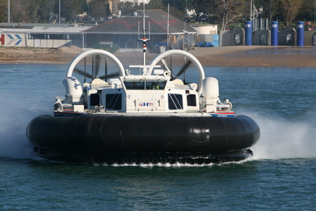 hovercraft: Passenger hovercraft operating in Solent between Portsmouth and Isle of Wight