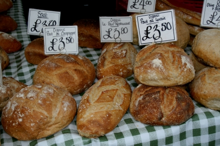 speciality: Speciality bread for sale, Market Square, Braintree, Essex, England
