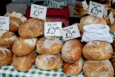 essex: Speciality bread for sale, Market Square, Braintree, Essex, England