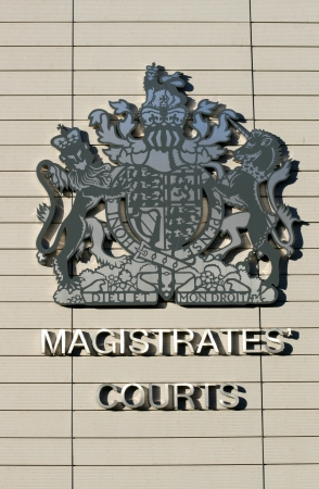 magistrates: Emblem on Chelmsford Magistrates Court, Chelmsford, Essex, England Editorial