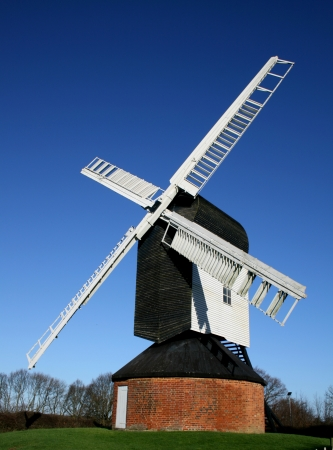 Mountnessing Post Mill, built 1807, near Brentwood, Essex, England Stock Photo