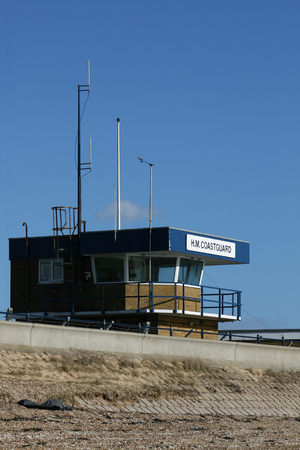 coastguard: HM Coastguard station, Shoeburryness, near Southend on Sea, Essex, England