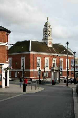 essex: Braintree Town Hall viewed from Market Place, Braintree, Essex, England