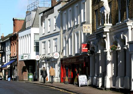 Commercial properties, North Street, Bishops Stortford, Hertfordshire, England