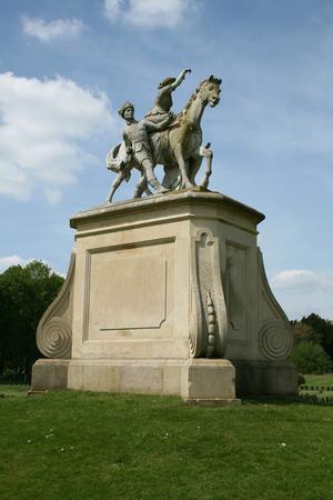 wrest: Monument in American Garden, Wrest Park, near Silsoe, Bedfordshire, England