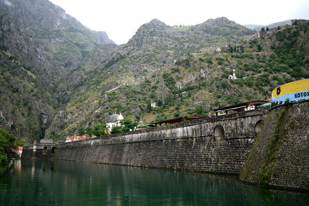fortified: Fortified wall around old town, Kotor, Montenegro Editorial