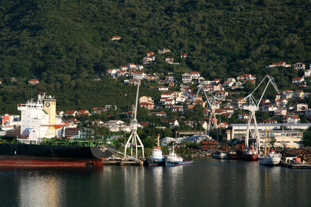 kotor: Shipyard at Bijela, Bay of Kotor, Montenegro